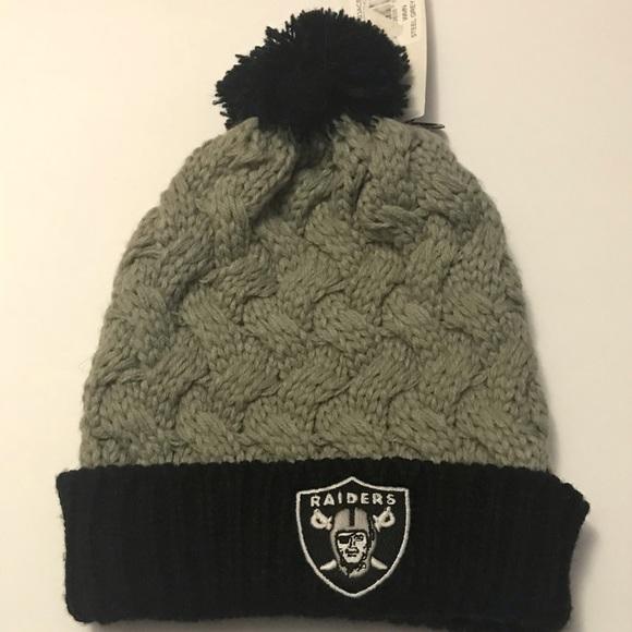 Oakland Raiders Pom Pom Hat. NWT. NFL cd5563d7d32